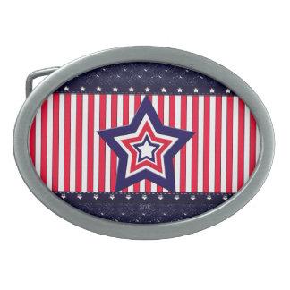 U.S. Patriotic Celebration of National Holidays Belt Buckle