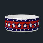 """U.S. Patriotic Celebration of National Holidays Bowl<br><div class=""""desc"""">Celebrate Independence Day, Memorial Day (any USA national holiday) with various mix matches of patriotic stars and stripes and Old Glory themed pieces that were designed by SD Kelley. The pieces seem as though they could have come from a digital patriotic scrapbook set. A festive Old Dixie Land like alternative...</div>"""