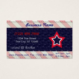 U.S. Patriotic Celebration of National Holidays Business Card