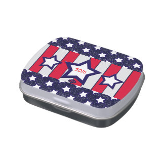 U.S. Patriotic Celebration of National Holidays Candy Tins