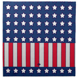 U.S. Patriotic Celebration of National Holidays Cloth Napkin