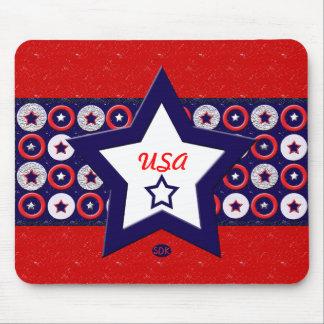 U.S. Patriotic Celebration of National Holidays Mouse Pad