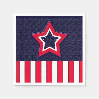 U.S. Patriotic Celebration of National Holidays Napkin