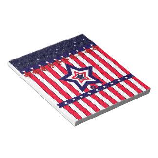 U.S. Patriotic Celebration of National Holidays Notepad