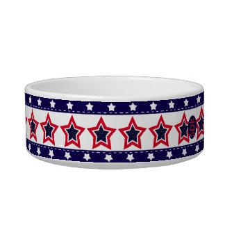 U.S. Patriotic Celebration of National Holidays Cat Food Bowls