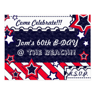 U.S. Patriotic Celebration of National Holidays Postcard