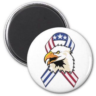 U.S. Patriotic Eagle Flag 2 Inch Round Magnet