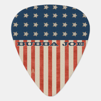 U.S. Patriotic Grunge (Personalized) Guitar Pick