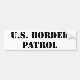 U.S. Patrulla fronteriza (texto) Pegatina De Parachoque