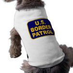 U.S. PATRULLA FRONTERIZA (v189) Camisetas De Perro