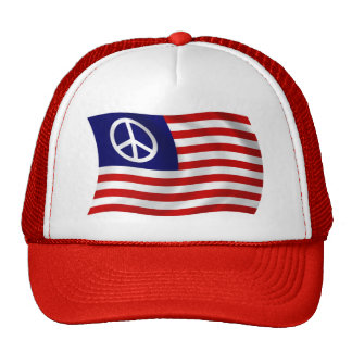 U.S. Peace Sign Flag Hat