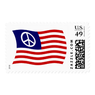 U.S. Peace Sign Flag Stamps