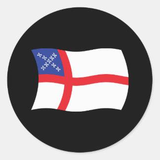 U S Pegatina de la bandera de la iglesia episcopa