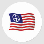 U.S. Pegatina de la bandera del signo de la paz