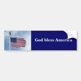 U.S. pegatina para el parachoques de la bandera Pegatina Para Auto