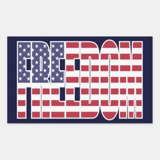 U.S. Pegatinas de la bandera de la libertad (hoja Rectangular Altavoz