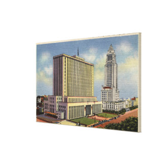 U. S. Post Office, City Hall, & Federal Building Stretched Canvas Print
