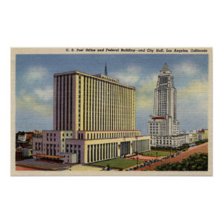 U. S. Post Office, City Hall, & Federal Building Poster