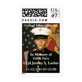 U S Postage Stamp Honoring Lasher