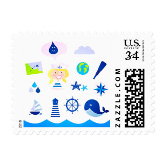 U.S. Postage stamp : Mare collection