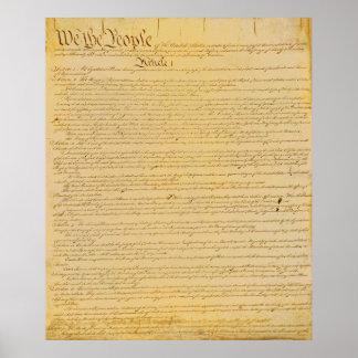 U.S. Poster de la constitución