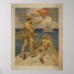 U.S. Poster de la guerra de los infantes de marina