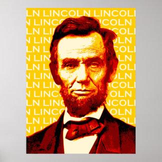 U S Poster del retrato de presidente Abraham Linc