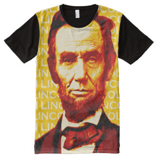 U.S. President Abraham Lincoln Portrait All-Over Print Shirt