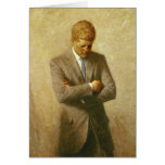 U.S. President John F. Kennedy by Aaron Shikler Greeting Cards