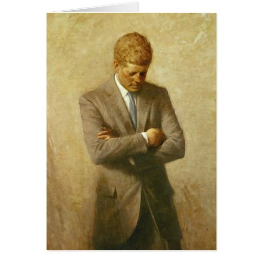 U.S. President John F. Kennedy by Aaron Shikler Greeting Card