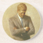 U.S. President John F. Kennedy by Aaron Shikler Drink Coaster
