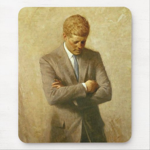 U.S. President John F. Kennedy by Aaron Shikler Mouse Pad
