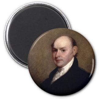 U.S. President John Quincy Adams by Gilbert Stuart 2 Inch Round Magnet