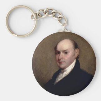 U.S. President John Quincy Adams by Gilbert Stuart Basic Round Button Keychain