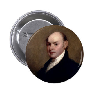 U.S. President John Quincy Adams by Gilbert Stuart Pinback Button