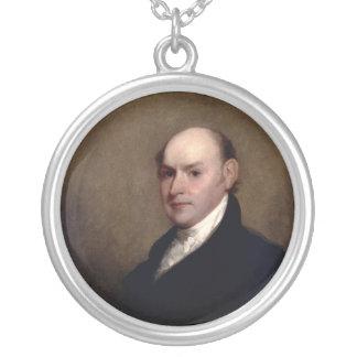 U.S. President John Quincy Adams by Gilbert Stuart Round Pendant Necklace