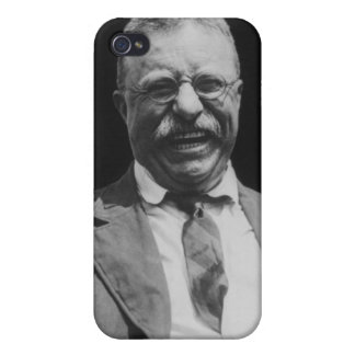 U.S. President Theodore Teddy Roosevelt Laughing iPhone 4 Cases