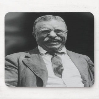 U.S. President Theodore Teddy Roosevelt Laughing Mouse Pads
