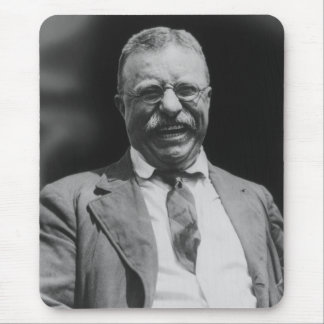 U S President Theodore Teddy Roosevelt Laughing Mouse Pads