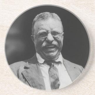 U.S. President Theodore Teddy Roosevelt Laughing Sandstone Coaster