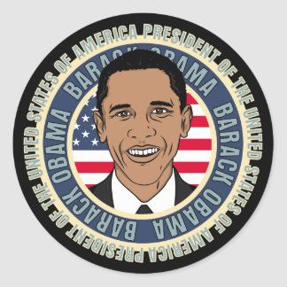 U.S. Presidente Barack Obama Pegatina Redonda