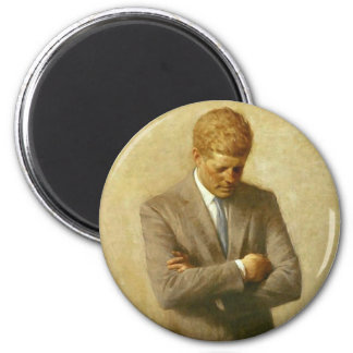 U.S. Presidente John F. Kennedy de Aaron Shikler Imán Redondo 5 Cm