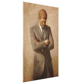 U.S. Presidente John F. Kennedy de Aaron Shikler Impresión En Lienzo