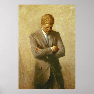 U S Presidente John F Kennedy de Aaron Shikler Posters