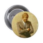 U.S. Presidente John F. Kennedy de Aaron Shikler Pin Redondo 5 Cm