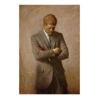 U.S. Presidente John F. Kennedy de Aaron Shikler Póster