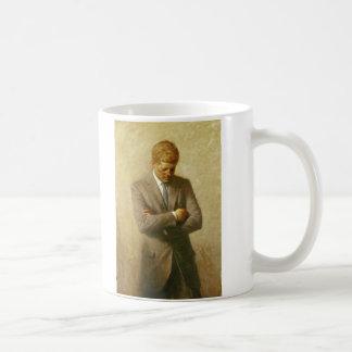 U.S. Presidente John F. Kennedy de Aaron Shikler Taza De Café
