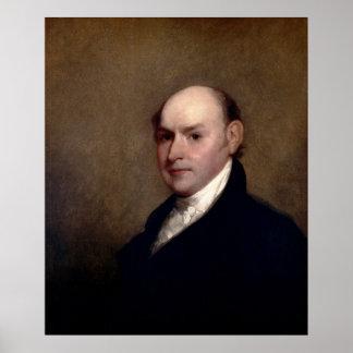 U.S. Presidente John Quincy Adams de Gilbert Estua Póster