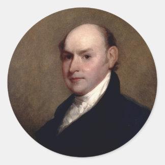 U.S. Presidente John Quincy Adams de Gilbert Pegatina Redonda