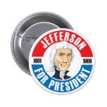 U.S. Presidentes Campaign Button: #3 Jefferson Pin Redondo 5 Cm
